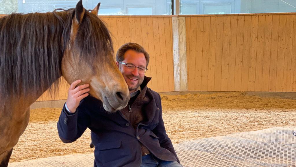 Autodynamisches Reflexionsprinzip bei Pferden, Timo mit seinem Pferd
